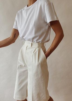 Белая базовая футболка oversize4 фото