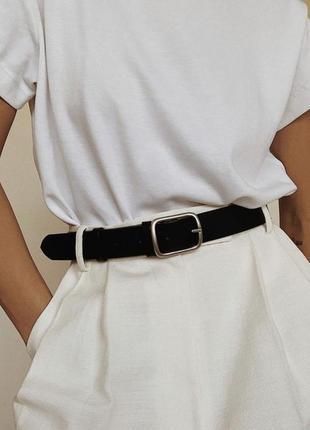 Белая базовая футболка oversize5 фото