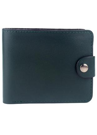 Кожаное портмоне п3-06 (темно-зеленое)