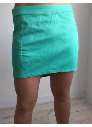 Юбка, спідниця, бирюзовая юбка от terranova.