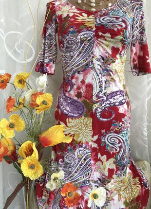 Яркое люксовое платье etro, италия, s, 42, eur 36, uk 8.