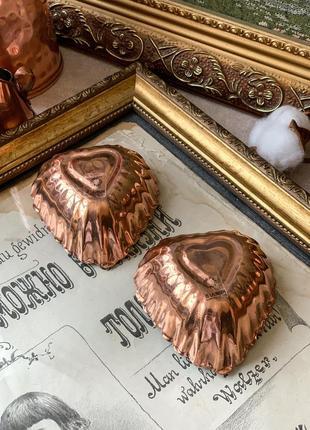 Медные формочки-сердечки