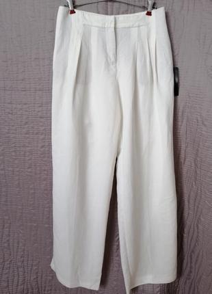 Штани білі палаццо zara оригинал брюки, розмір s, m, літо