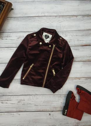 Велюровый пиджак косуха