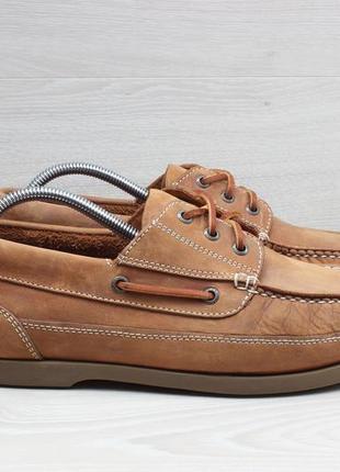 Мужские кожаные мокасины / топ-сайдеры chatham, размер 42 - 42.5