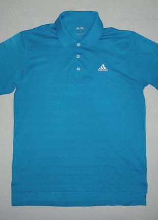 Футболка adidas golf синяя (l)