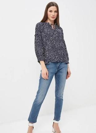 Блуза свободного кроя с защипами от gap1 фото
