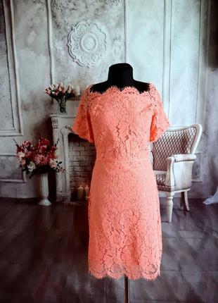 Мега нарядное платье миди