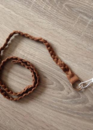 Плетеный ремешок из замши