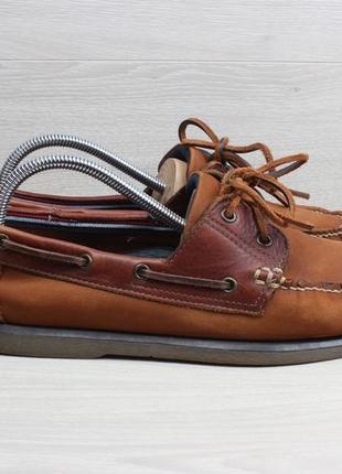 Мужские кожаные мокасины / топ-сайдеры marks&spencer, размер 42