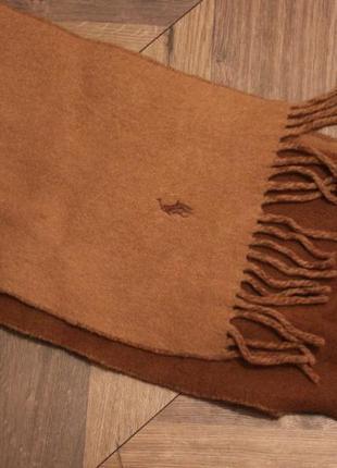 Шикарный двусторонний шарф polo ralph lauren оригинал шерсть кэмел коричневый