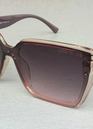 Louis vuitton очки женские солнцезащитные большие коричнево сиреневые с градиентом