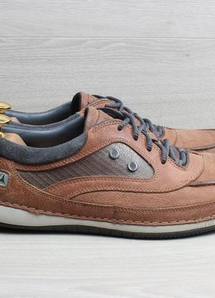 Кожаные мужские туфли / мокасины clarks оригинал, размер 43 - 43.5