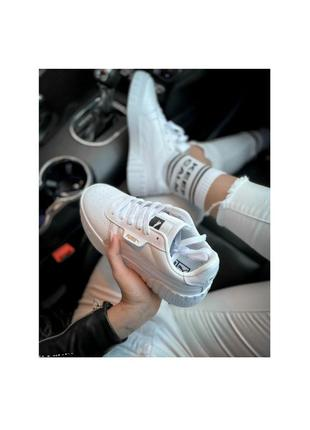 Белые кеды 3082 кроссовки оригинал на подошве