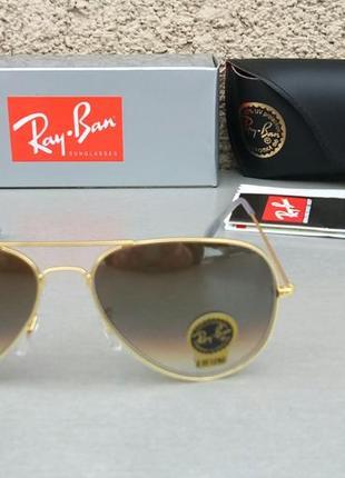 Ray ban 3026 очки капли унисекс солнцезащитные линзы стекло серые с бензиновым градиентом