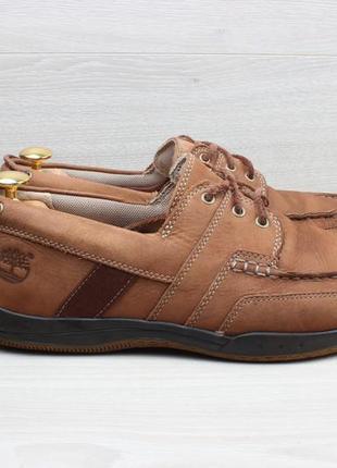 Мужские кожаные мокасины / топ-сайдеры timberland оригинал, размер 42