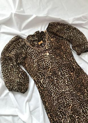 Леопардовое платье {xs-m}