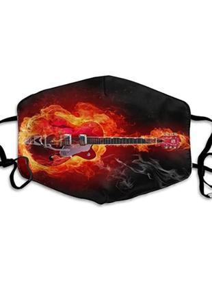 Новая классная многоразовая маска для лица защитная маска электро гитара огненная