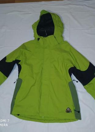Термо стійка лижна куртка чоловіча оликового кольору