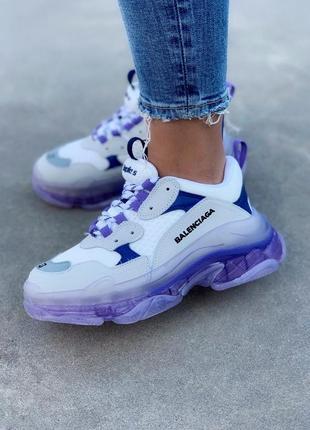 Фиолетовые черничные кроссовки triple s violet