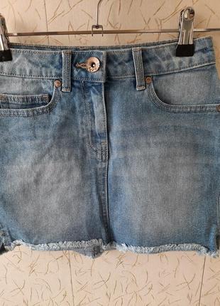 Юбка детская джинсовая next на 7-8 лет оригинал