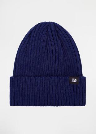 Синяя шапка в рубчик gard