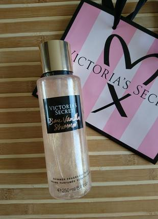 Bare vanilla mist парфюмированный спрей для тела с шиммером блестками victorias secret