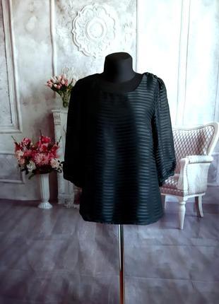 Стильная блузка шифоновая чёрная
