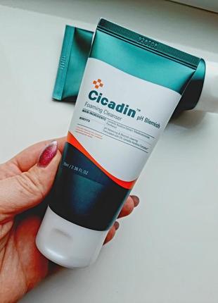 Missha cicadin ph blemish foaming cleanser пенка для проблемной кожи с центеллой азиатской