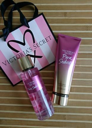 Pure seduction подарочный набор лосьон, мист victoria's secret