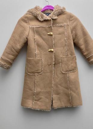 Дитяча дублянка із вшитим капюшоном розмір 104-110 ( 116-д)