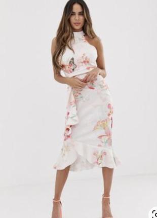 Шикарнейшее платье в цветы