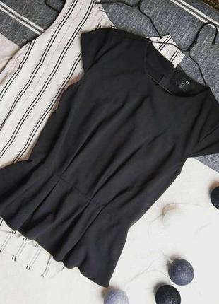 Стильный топ блуза с баской h&m