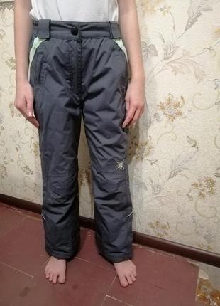 Теплые лыжные штаны, рост 140-146