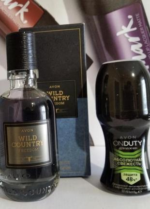 Мужской подарочный набор (туалетная вода wild country, дезодорант onduty)