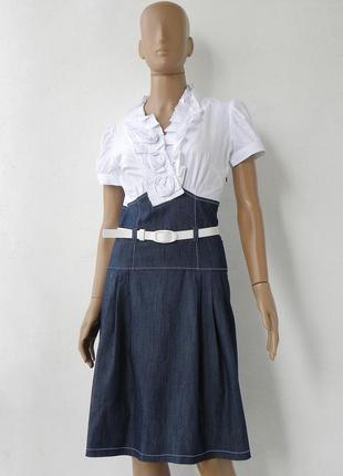 Комбіноване плаття з джинсовим низом 42-46 розміри (36-40 євророзміри).