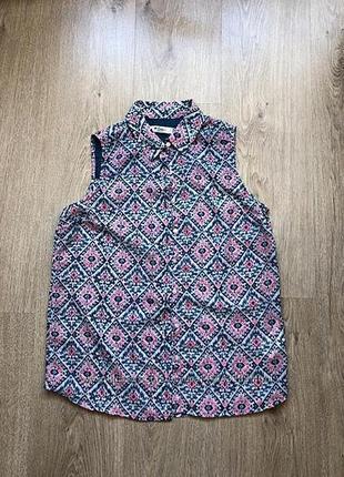 Легкая свободная блуза-рубашка colin's размер s-xs в состоянии новой