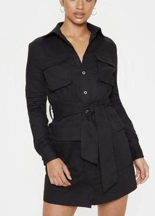 Стильное джинсовое платье с карманами