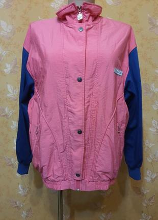 Куртка ветровка бомбер  спортивная в винтажном стиле