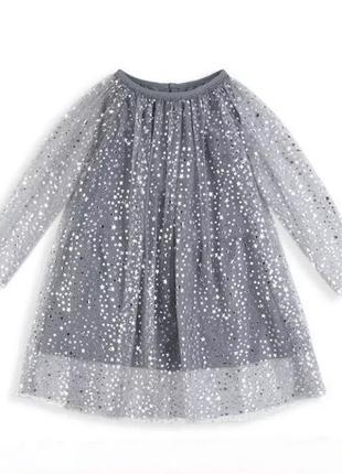 Шифоновое  праздничное платье 4-6 лет