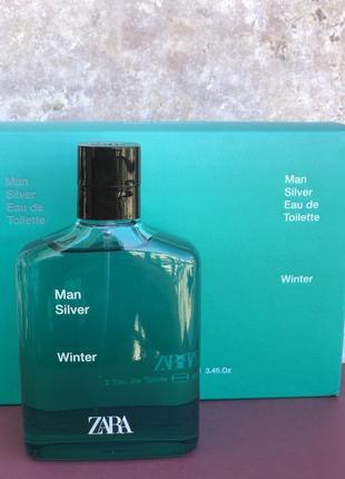 Духи парфюм zara man silver winter