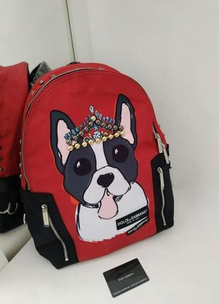 Рюкзак красный женский в стиле dolce gabbana❣️хит продаж!