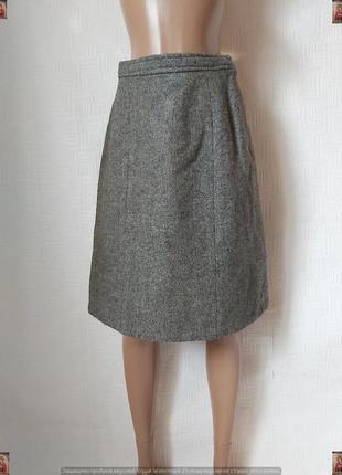 Новая мега теплая юбка миди трапеция со 100 % шерсти в сером цвете, размер с-м