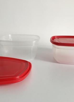 Контейнер, лоток для їжі, судки, 1 л, пищевой контейнер квадратный.