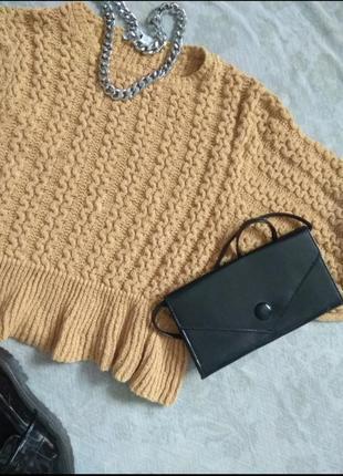 Объёмный оверсайз свитер джемпер кофта от зара zara объёмный рукав тренд