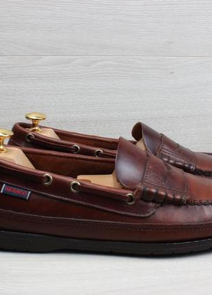 Кожаные мужские мокасины sebago, размер 42 (лоферы)