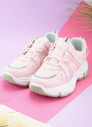 Женские розовые кроссовки со светло-бирюзовой подошвой в наличии разные цвета