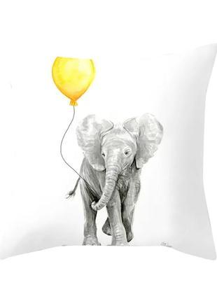 Декоративная наволочка со слоном, оригинальный декор.