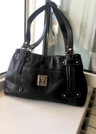 Tignanello шикарная кожаная сумка сумочка