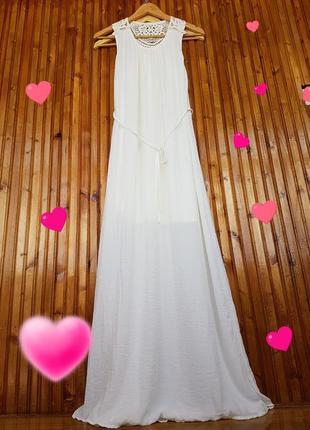 Красивое летнее платье h&m с ажурной кружевной спинкой.